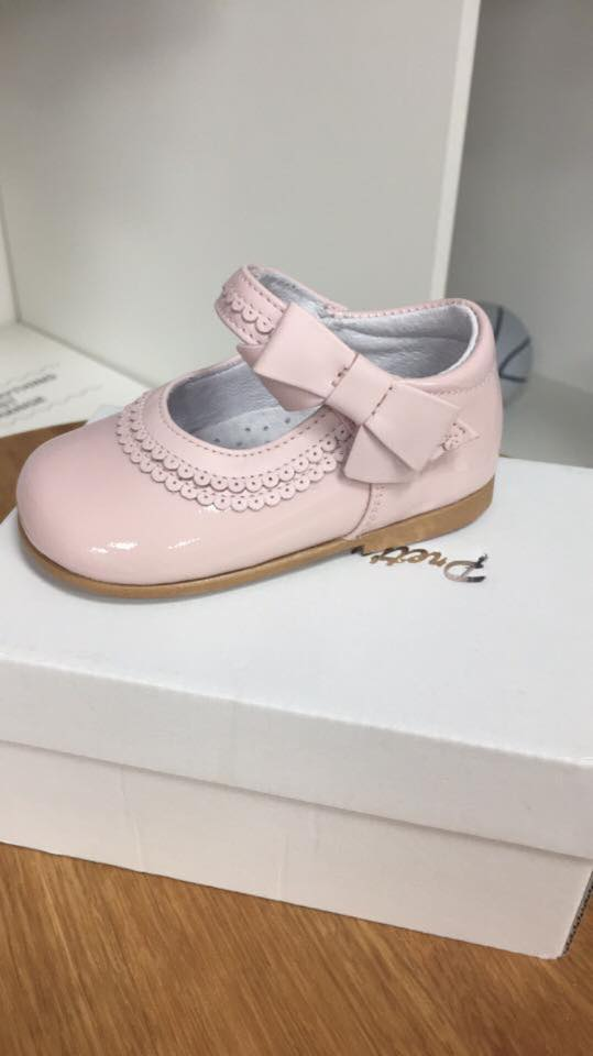 Pink designer pretty originals shoes with - little-boppers