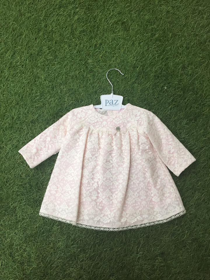 63fae1767076 Paz Rodrigues pink dress with cream lace overlay