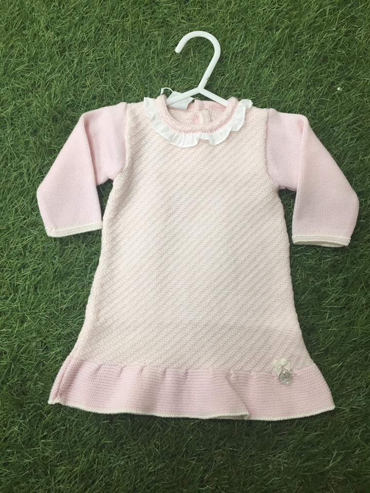 1c24a0834ccb Paz Rodriguez Pink Fine Knitted Dress - little Boppers