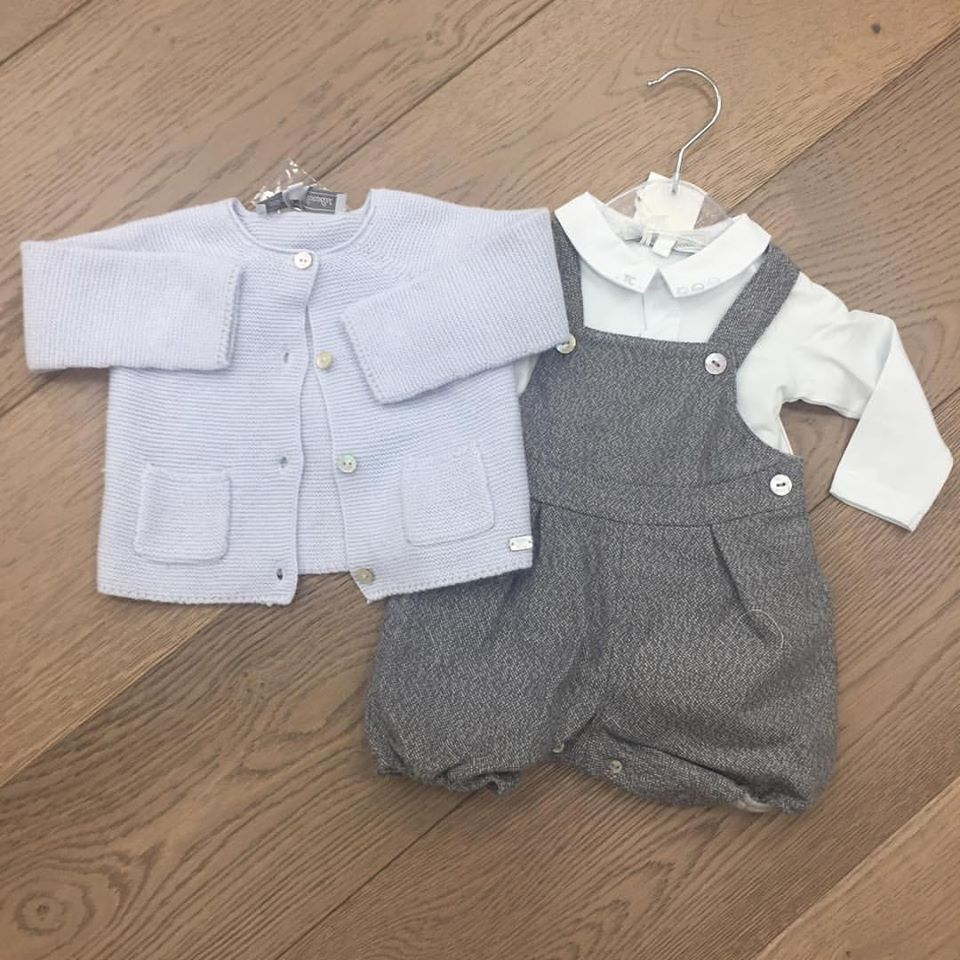 6f664080e Tartine et Chocolat Baby Boys Dungarees Outfit with pale blue ...