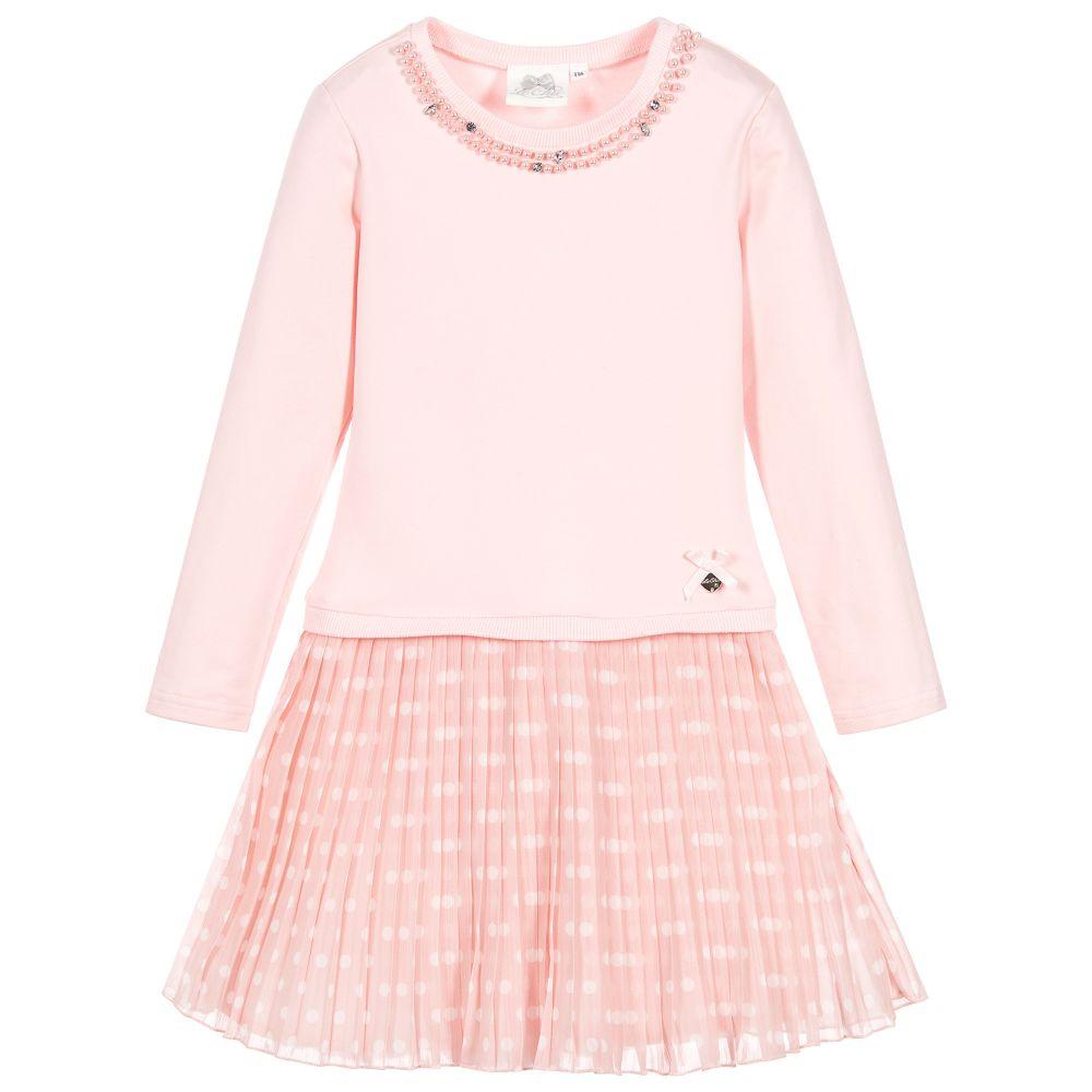 4fa02b19176 Le Chic Girls Pink Jersey Dress