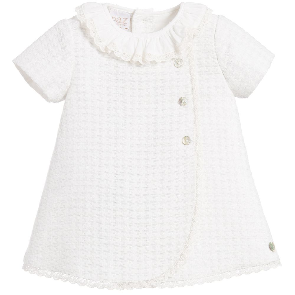 25f45ae27134 Paz Rodriguez Baby Girls Ivory Dress - little Boppers