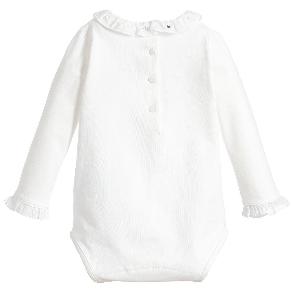 7d7031998 Tartine et Chocolat Girls Navy Blue Dress Baby Girls Ivory Bodyvest ...