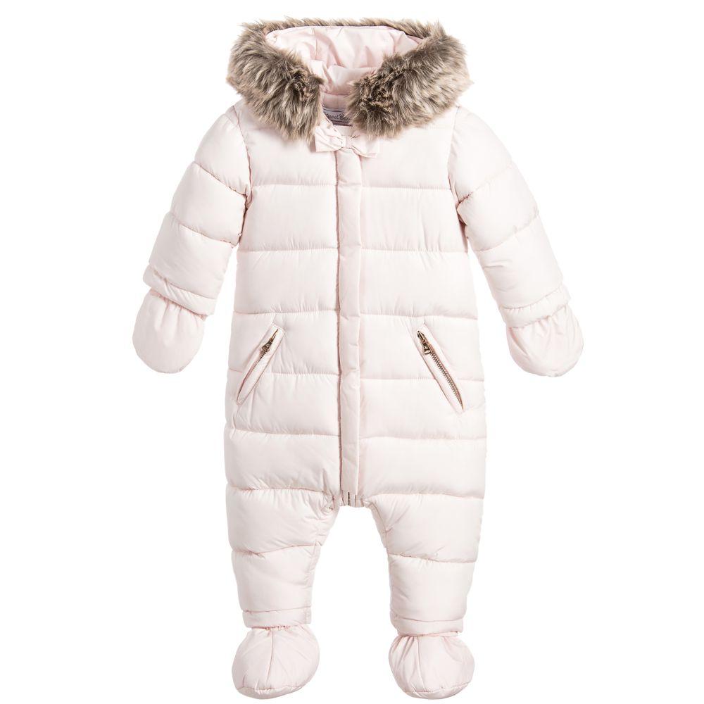 d1a22db88 Tartine et Chocolat Baby Girls Pink Snowsuit - little Boppers