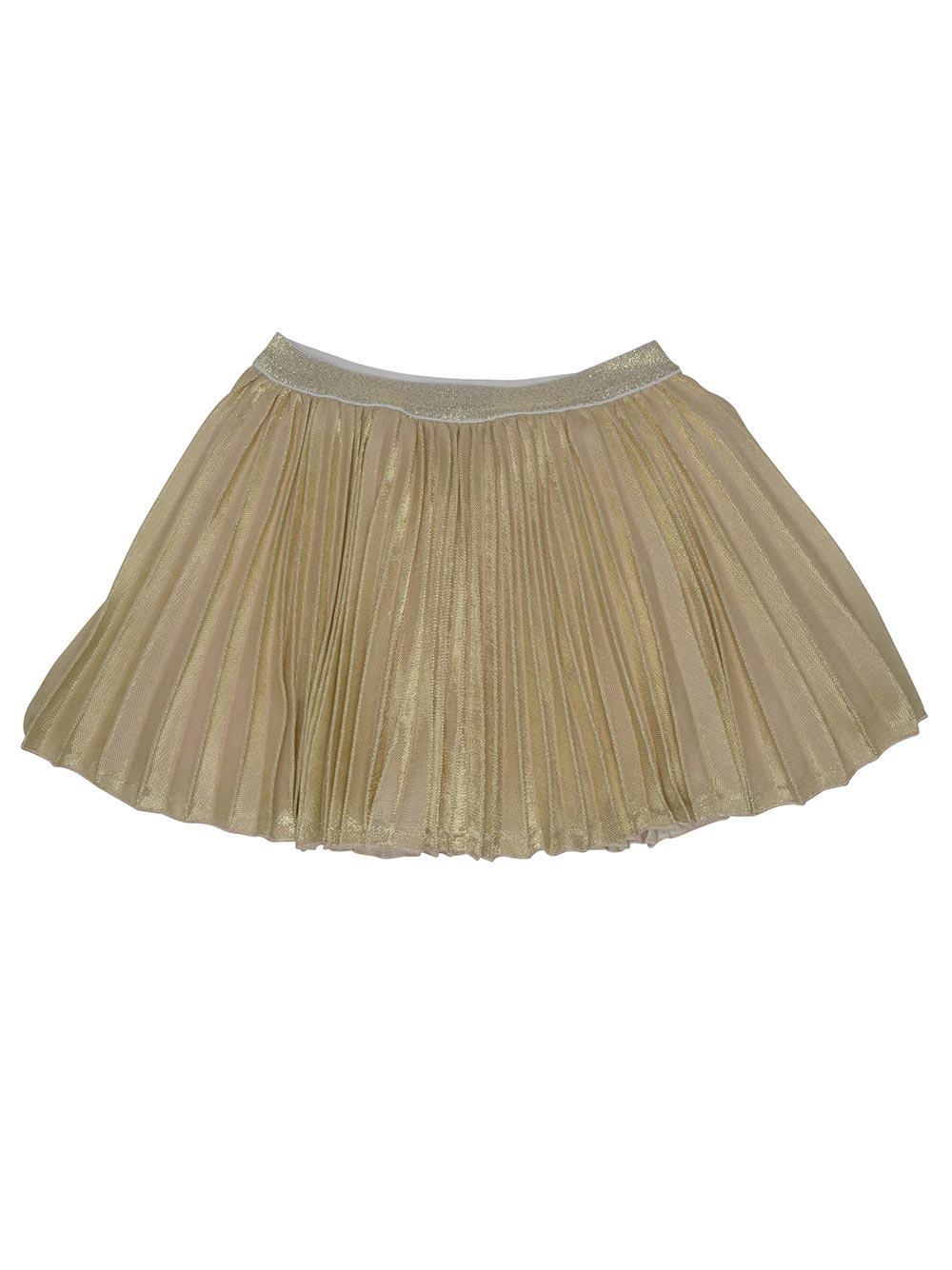 81b9ac0241344 Kate Mack Spun Gold Pleated Skirt Set Ivory Gold - little Boppers