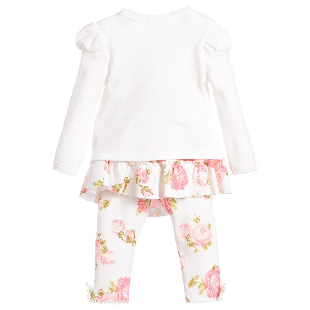 04e10267d379e Kate Mack   Biscotti Baby Girls Ivory Leggings Set - little Boppers