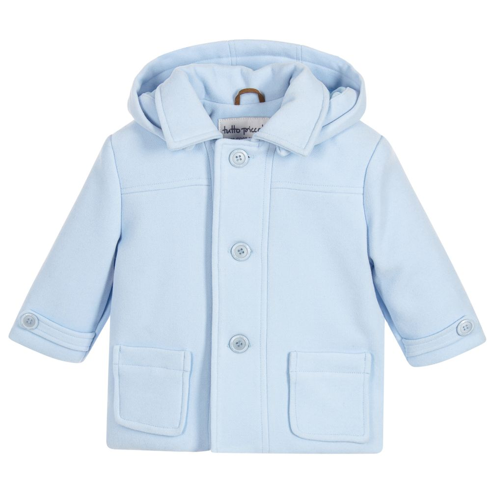 79da8158349a Tutto PiccoloPowder Blue Coat   Hood - little Boppers