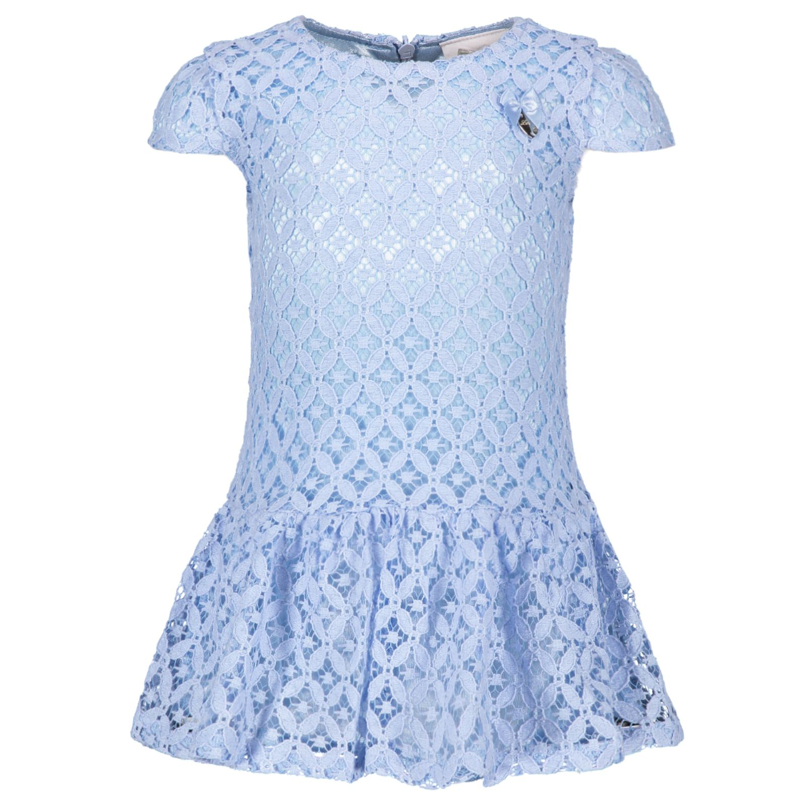 79ed6a608a0 Le Chic Baby Girls Blue Lace Dress