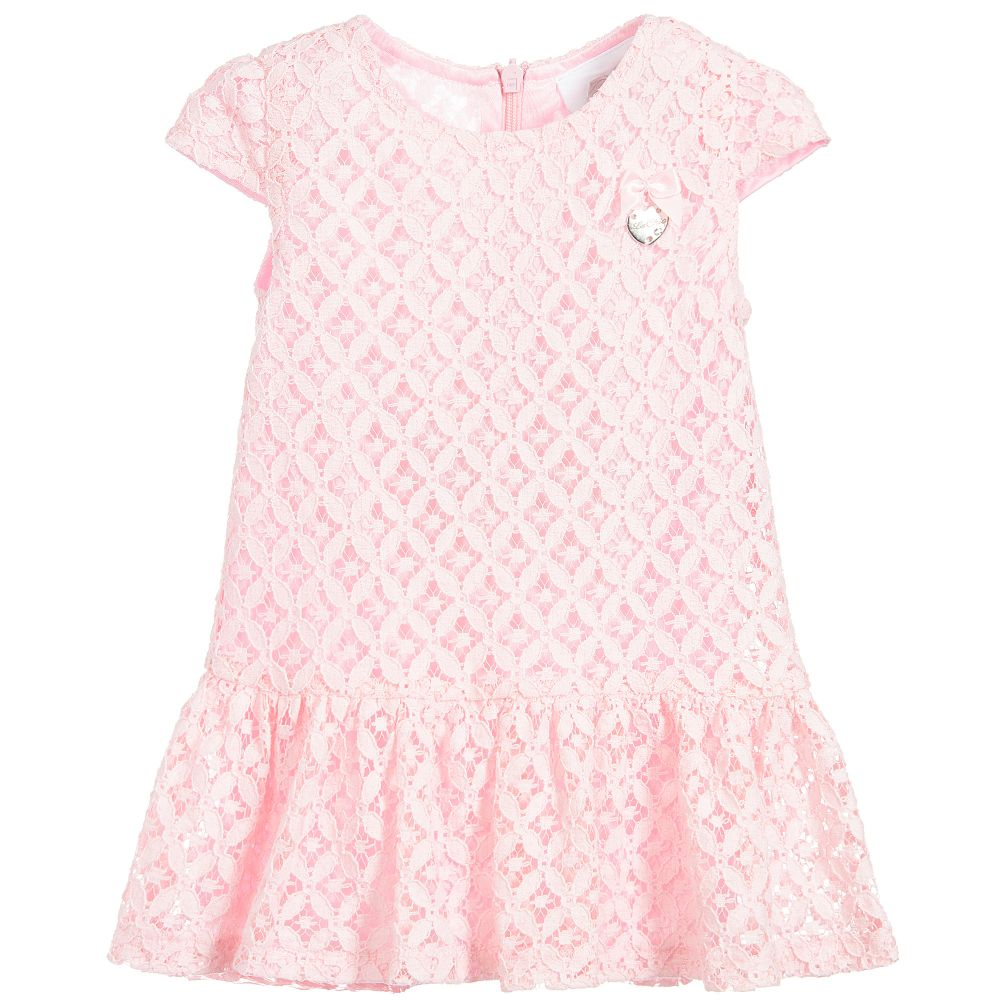 580cca13b77 Le Chic Baby Girls Pink Lace Dress