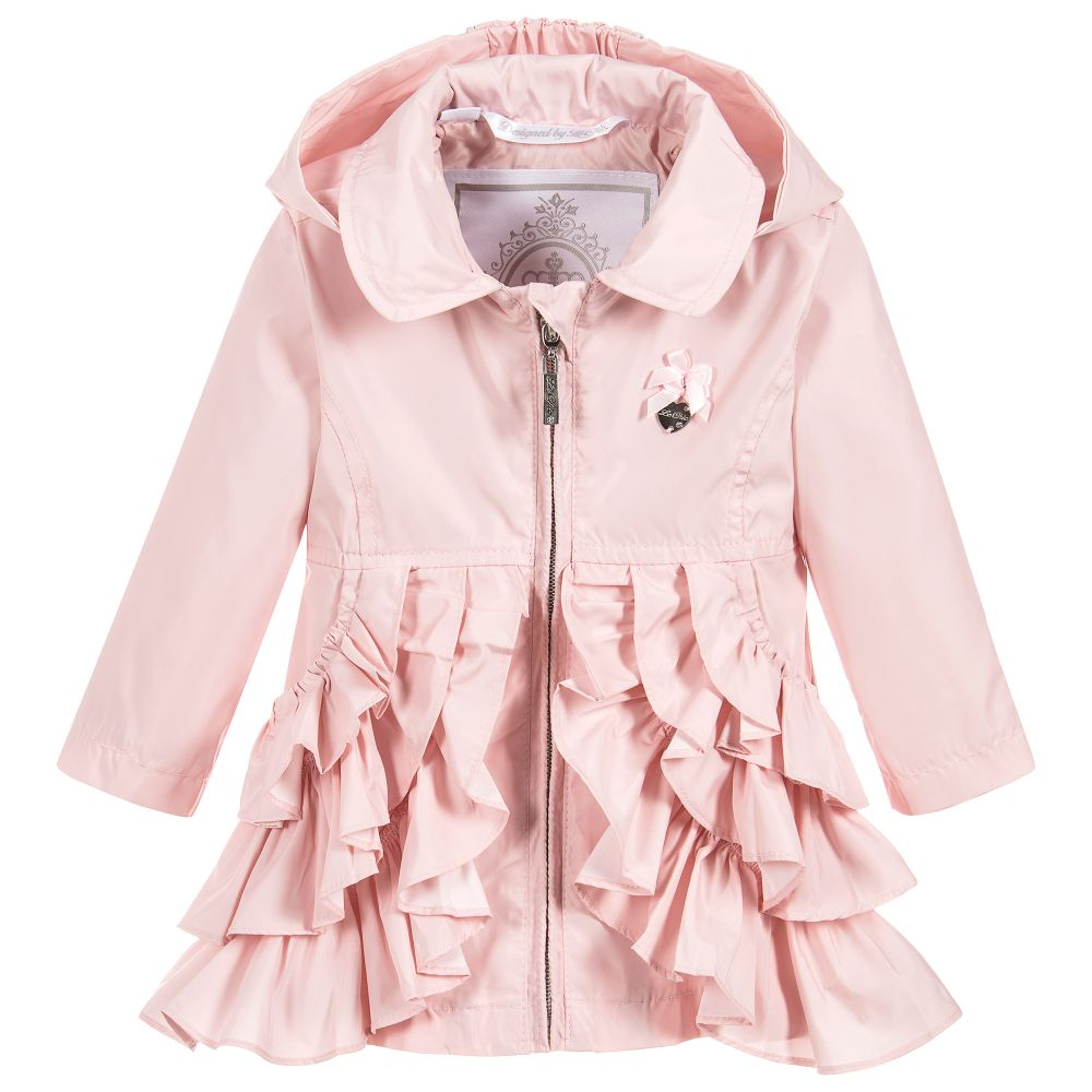 b224f777b Le Chic Baby Girls Pink Ruffle Coat - little Boppers