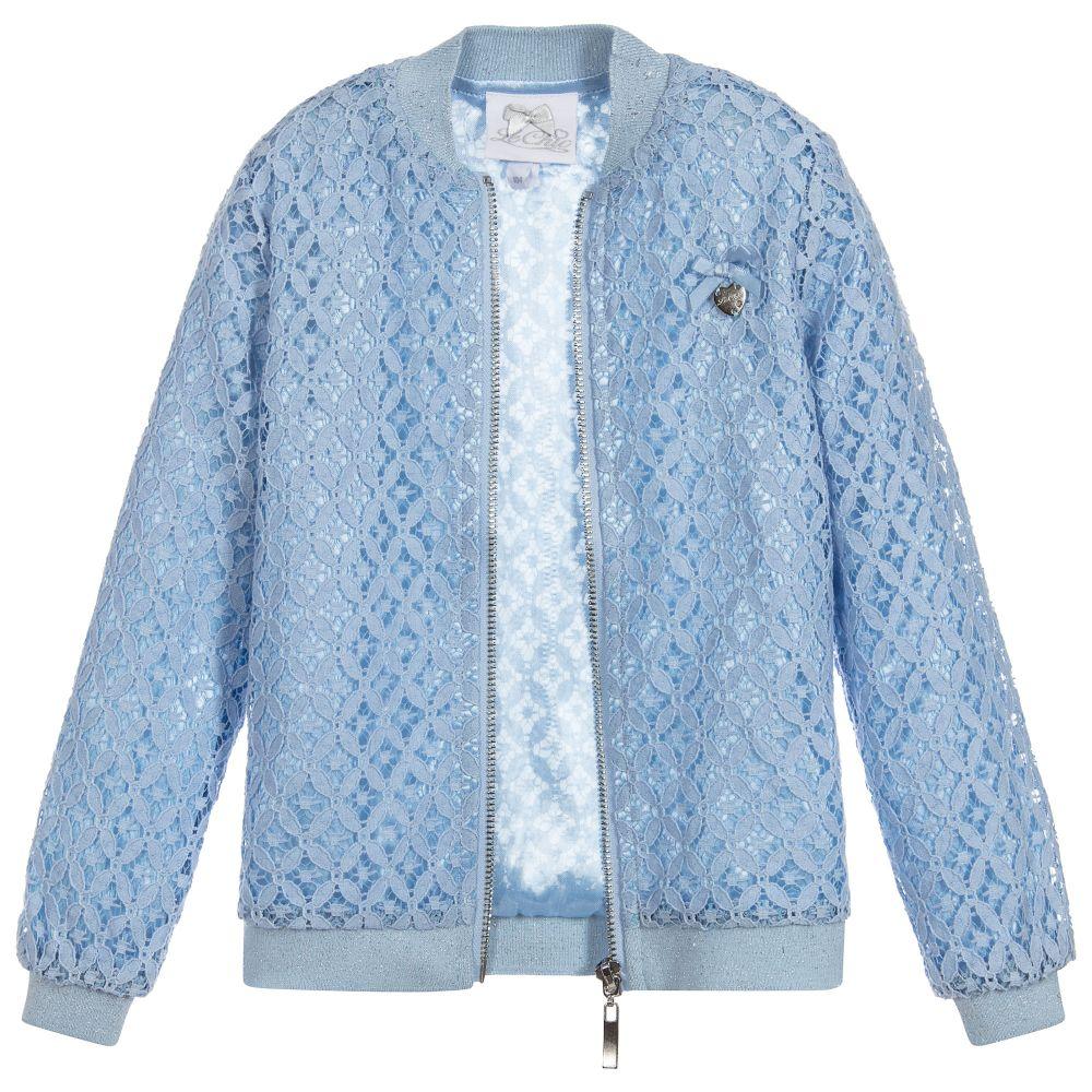 Le Chic Blue Lace Bomber Jacket Little Boppers