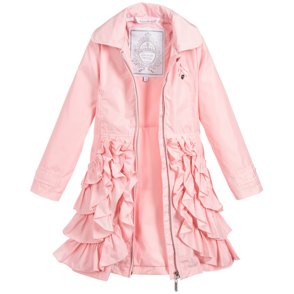 85ed44aef Le Chic Girls Pink Ruffle Coat - little Boppers