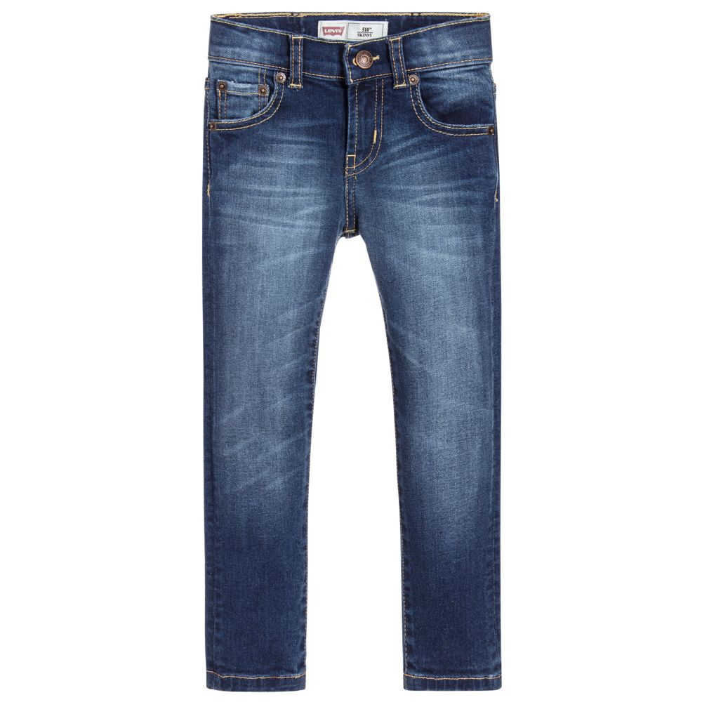c6acfac17 Levi's Boys 510™ Blue Skinny Jeans - little Boppers