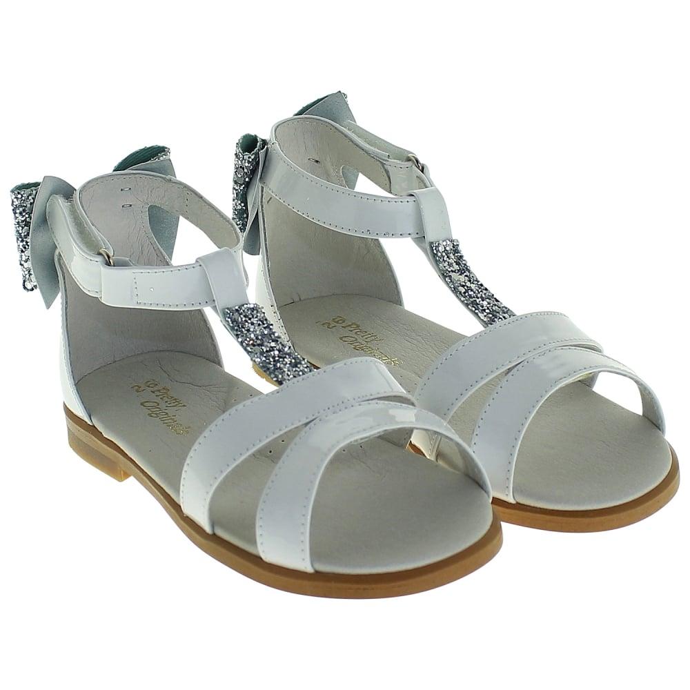 1235e196d1d6c Pretty Originals White And Silver Sandals