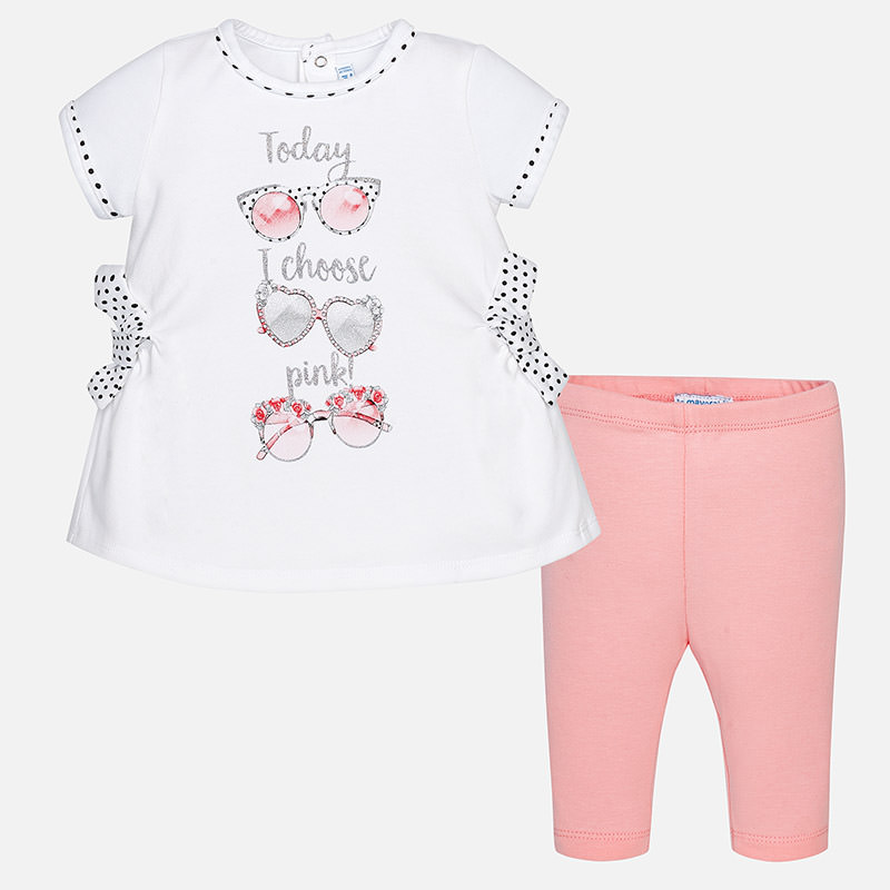 3beb8497fda8a Mayoral Cropped leggings set with bows for baby girl - little Boppers