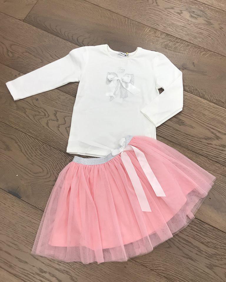 4c62cfbca1bd4 Little Lady Pink Tulle Skirt Set - little Boppers