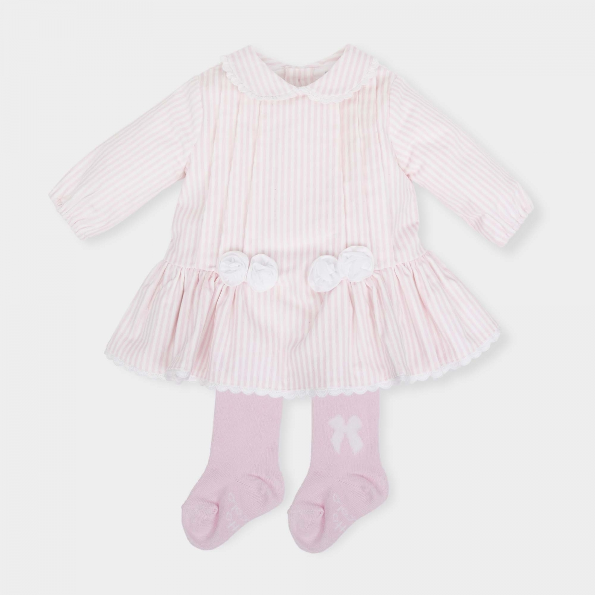 91f08943f Tutto Piccolo Baby Pink Dress With Tights - little Boppers
