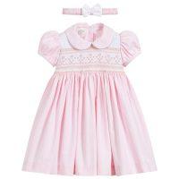 96d53cd4b Pretty Originals 2 Piece Hand-Smocked Pink Dress Set